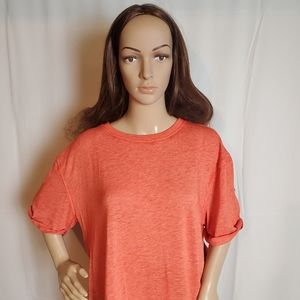 Free People Red Cassidy Tee in a side  Medium